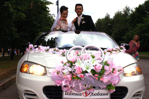 Как украсить свадебную машину своими руками фото